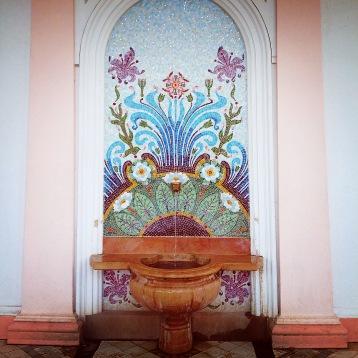 Evian water source